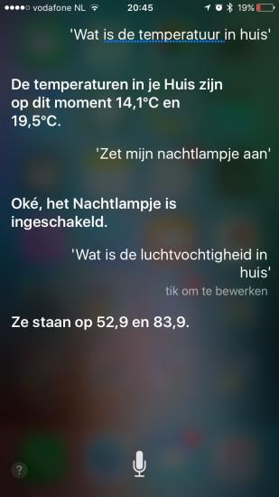 Elgato Eve bedienen met Siri dankzij HomeKit.