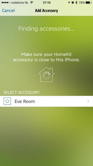 Elgato Eve Room instellen met de app.