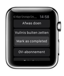 Reminders on Watch voor de Apple Watch met herinneringen.