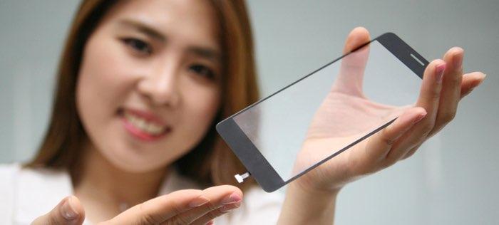 LG vingerafdrukscanner achter glasplaat