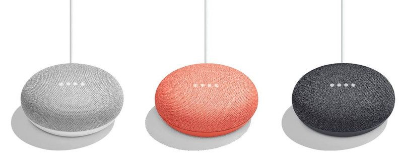 Google Home Mini colors