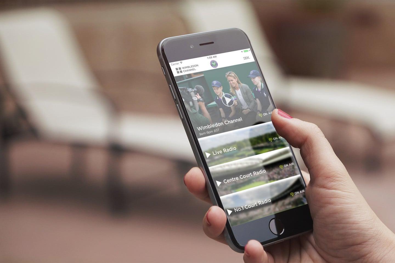 Wimbledon-app voor iPhone