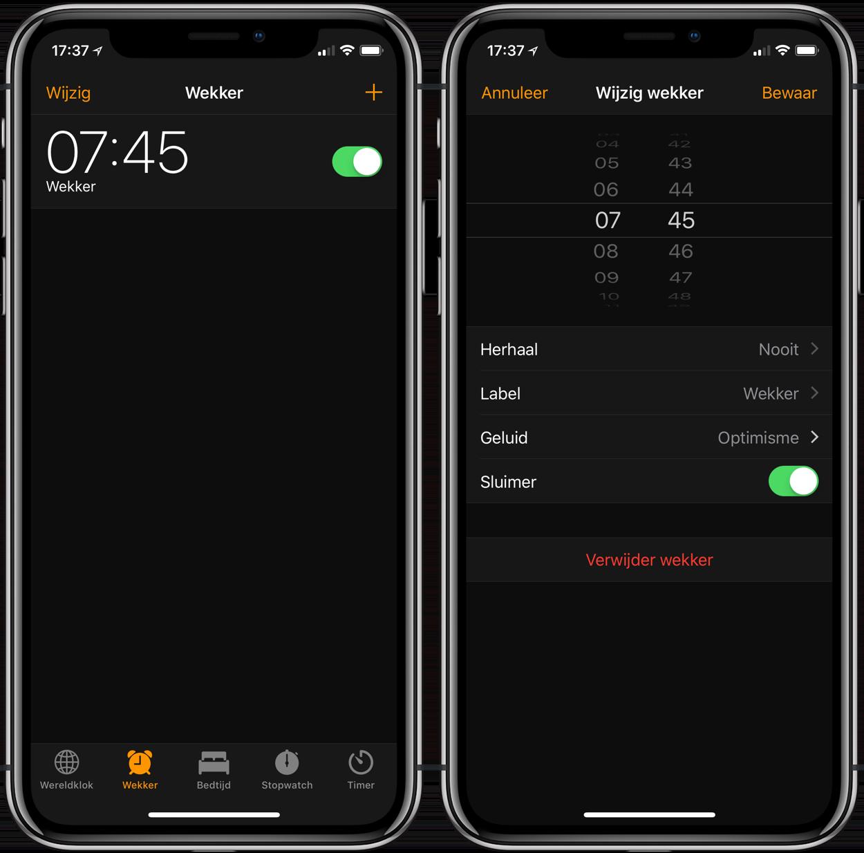 iPhone-wekker