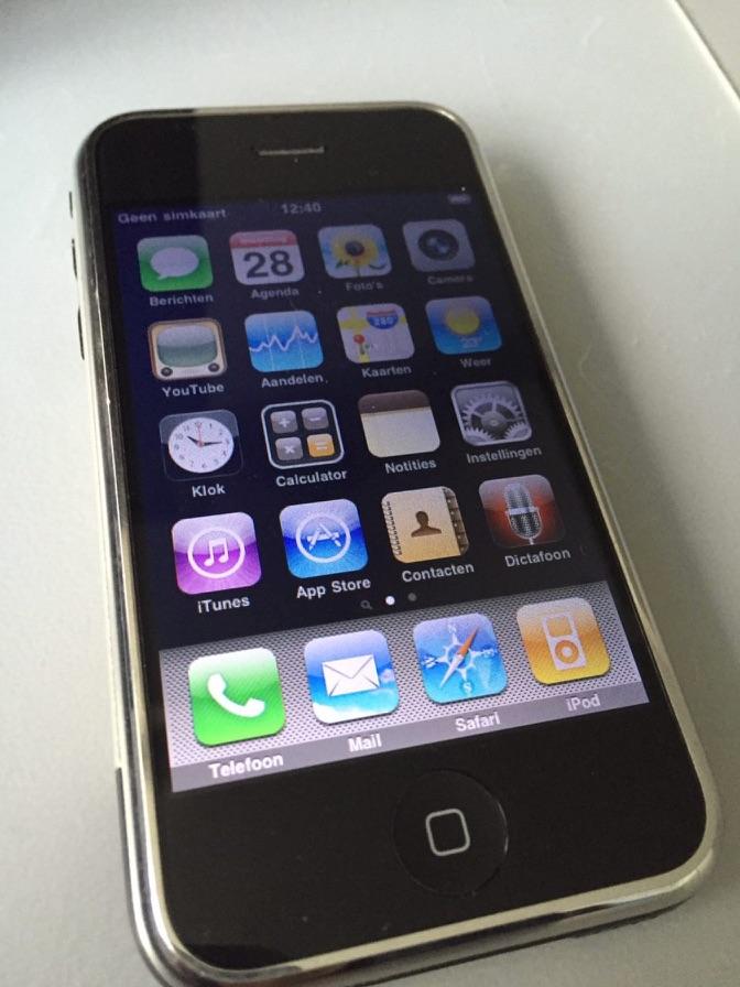 Eerste generatie iPhone.