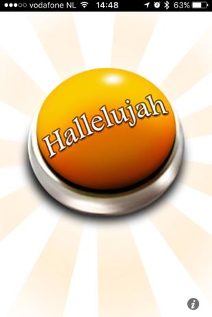 Hallelujah-button op de iPhone.