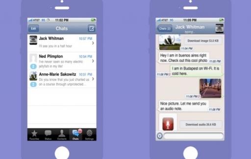 WhatsApp voor de iPhone in 2010.