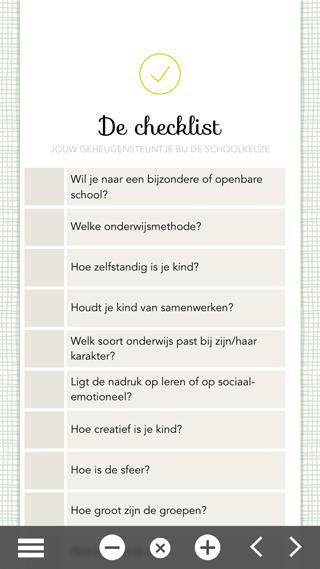 Naar School: checklist voor schoolkeuze