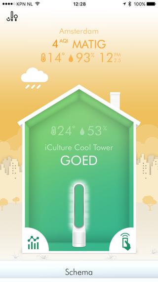 Dyson Pure Cool Link: goede luchtkwaliteit, het huisje is groen