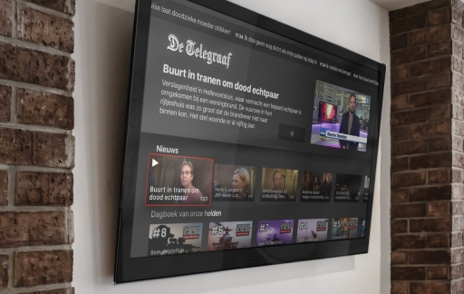 De Telegraaf op de Apple TV.