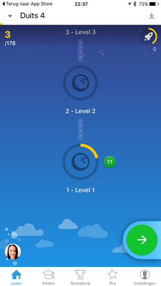 Memrise: levels
