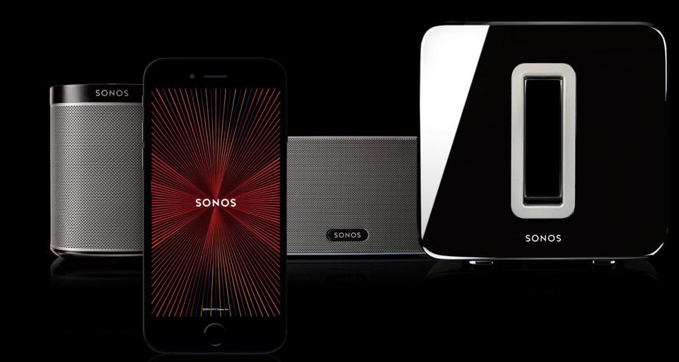Sonos-speakers en app.