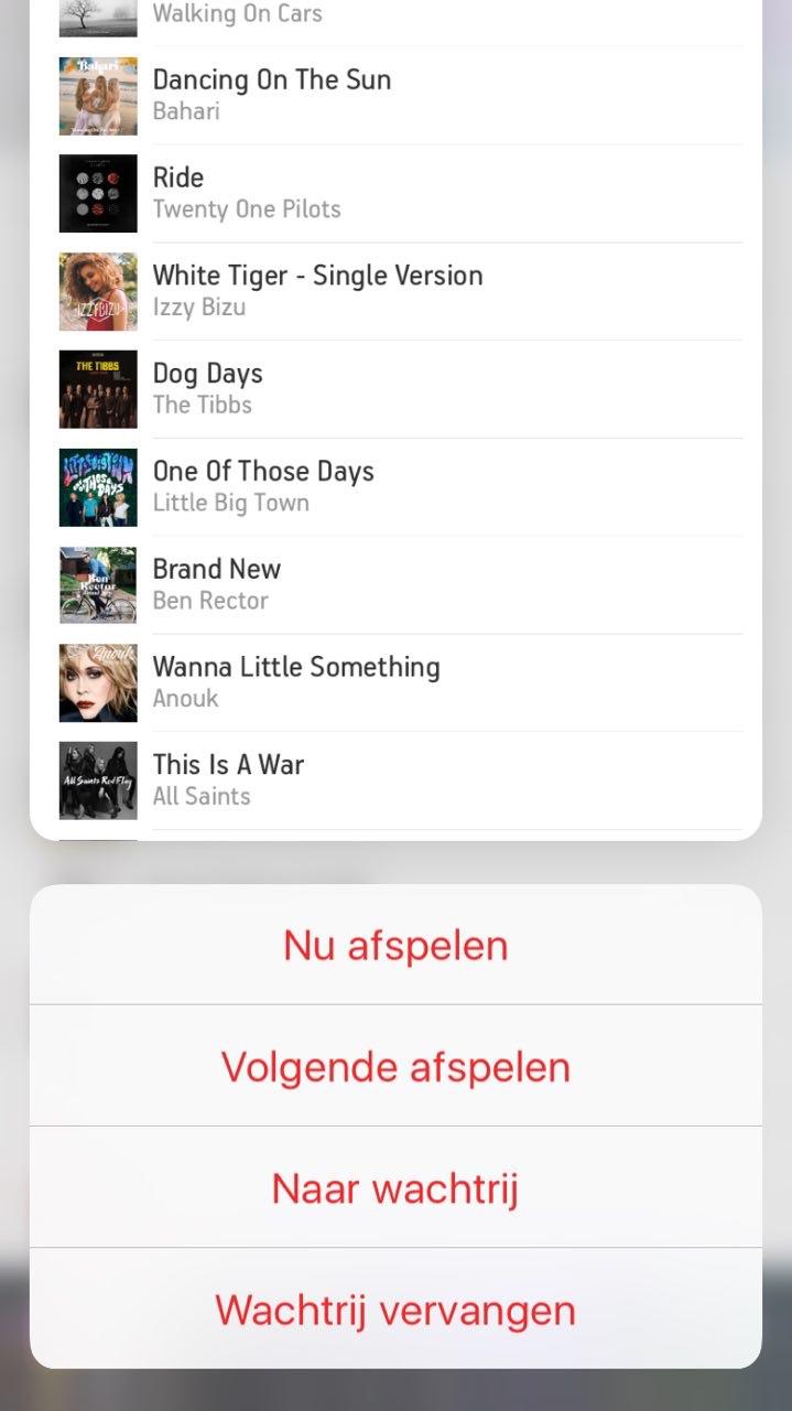 Peek en Pop in de Sonos-app met 3D Touch.