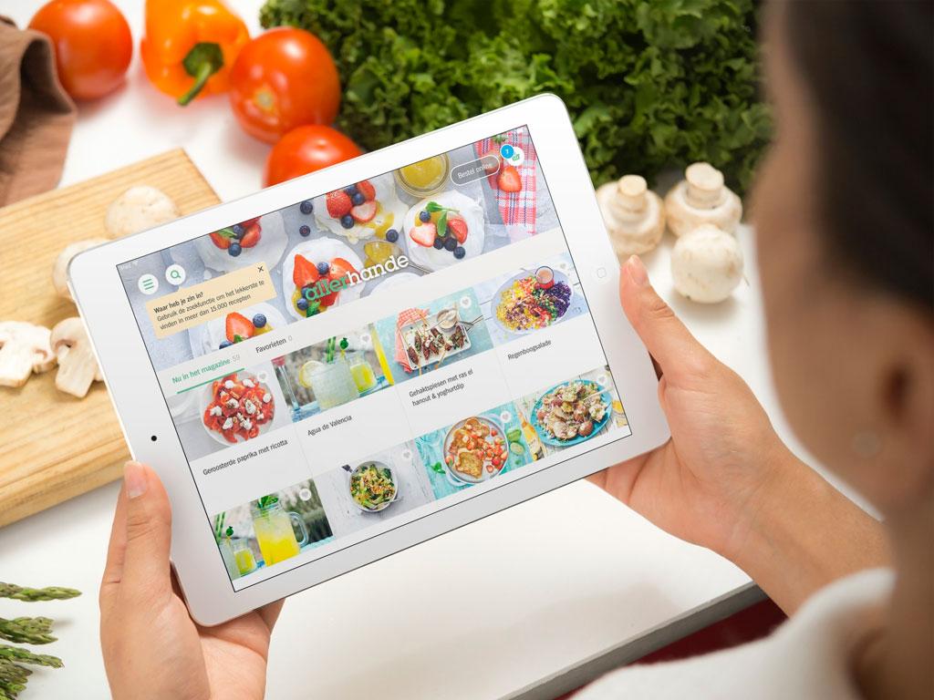 Allerhande in de Appie voor tablet-app