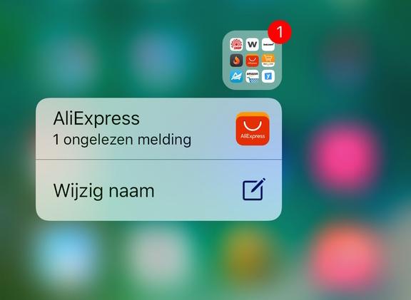 iOS 10 melding met 3D Touch
