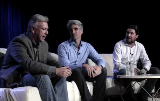 Talkshow met John Gruber, Phil Schiller, Craig Federighi