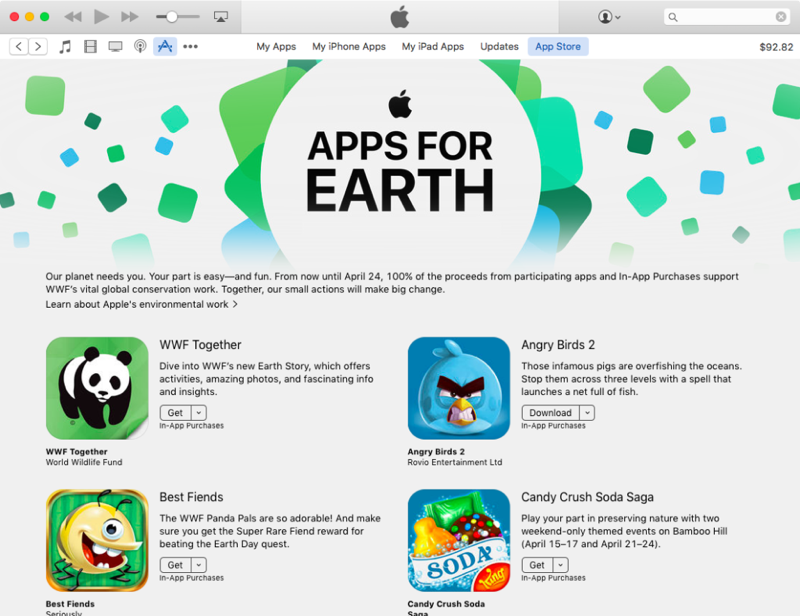 Apps for Earth WNF