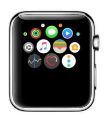 Hartslag-app in watchOS 3 op de Apple Watch.