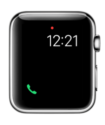 Telefoon-complicatie in watchOS 3 op Apple Watch.