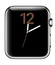 Cijfers-wijzerplaat in watchOS 3 op Apple Watch.