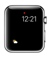 Het Weer-complicatie in watchOS 3 op Apple Watch.