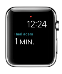 Ademhaling-complicatie in watchOS 3 op Apple Watch.