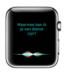 Siri in watchOS 3 op Apple Watch.