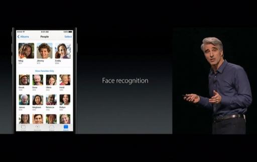 Foto's in iOS 10: gezichtsherkenning