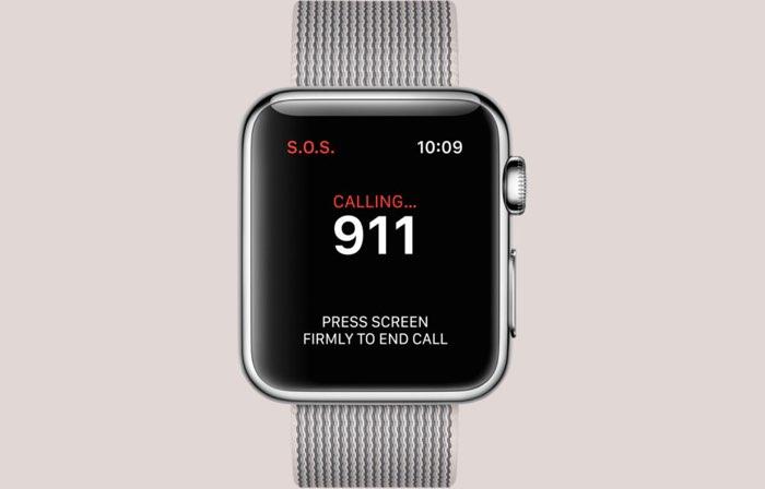 SOS noodknop op Apple Watch