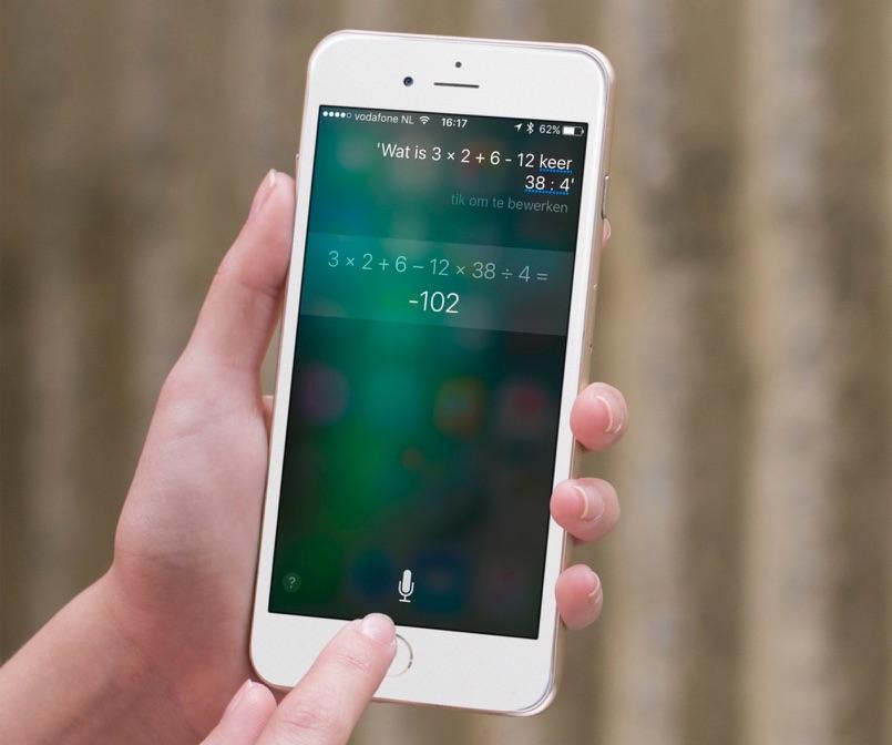 Rekenen met Siri in iOS 10.