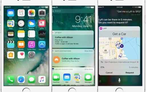 iOS 10 op iPhones