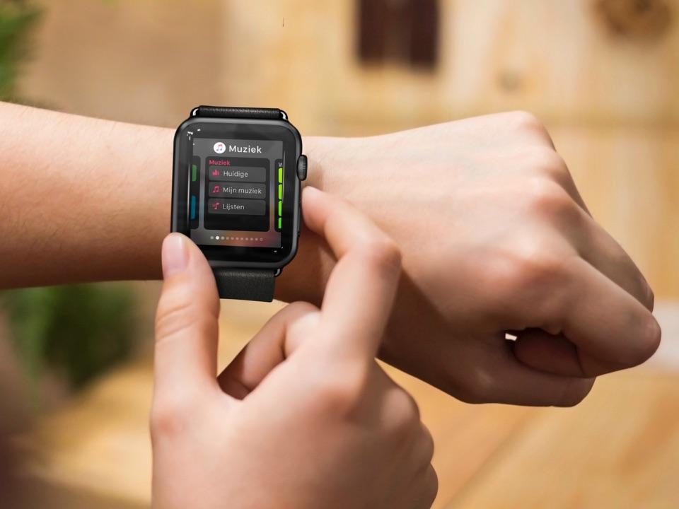 Dock gebruiken op de Apple Watch.