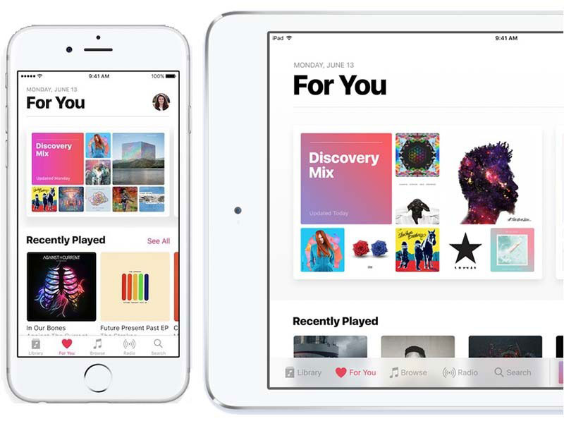 Apple Music iOS 10 op iPhone en iPad