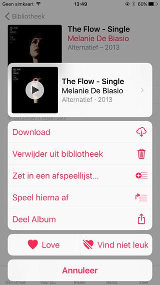 Apple Music in iOS 10: Single afspelen voor niet-abonnees