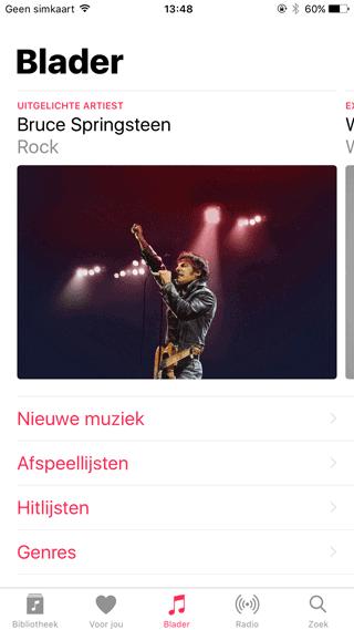 Apple Music in iOS 10: Bladeren voor niet-abonnees