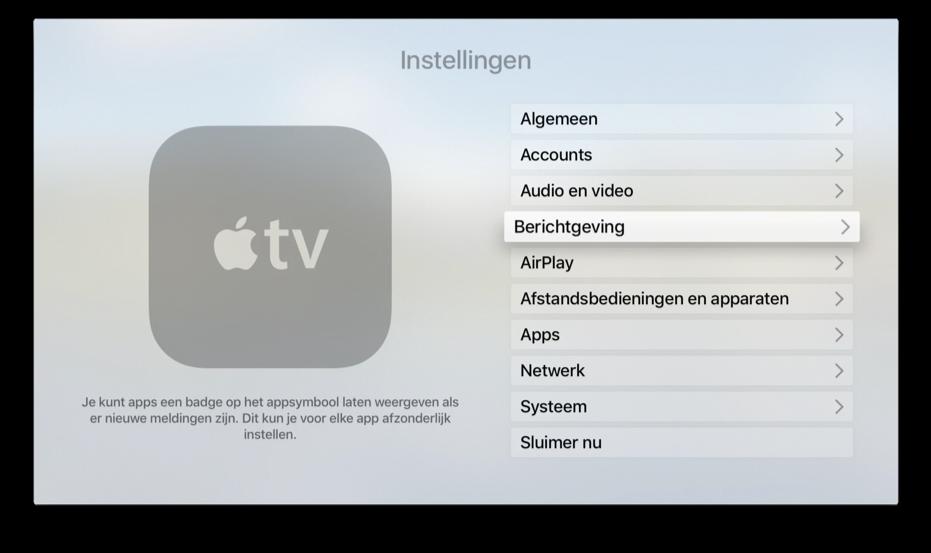Berichtgeving op de Apple TV in tvOS 10.