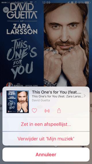 Apple Music iOS 9 David Guetta