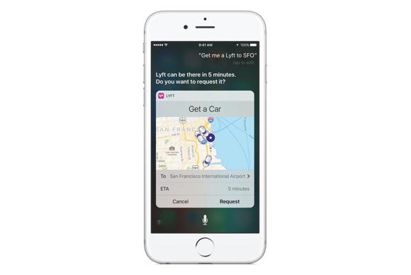 iOS 10 Siri opengesteld voor derden, bijv. taxirit boeken