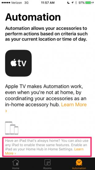 iPad HomeKit-hub