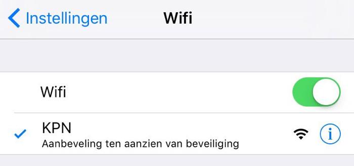 Netwerkaanbevelingen in iOS 10