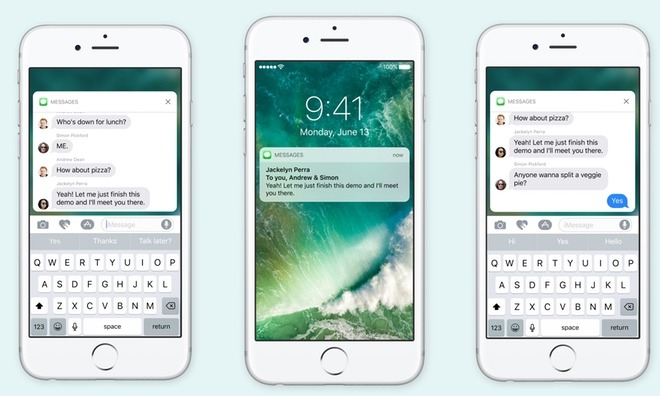 iOS 10-notificaties met 3D Touch.