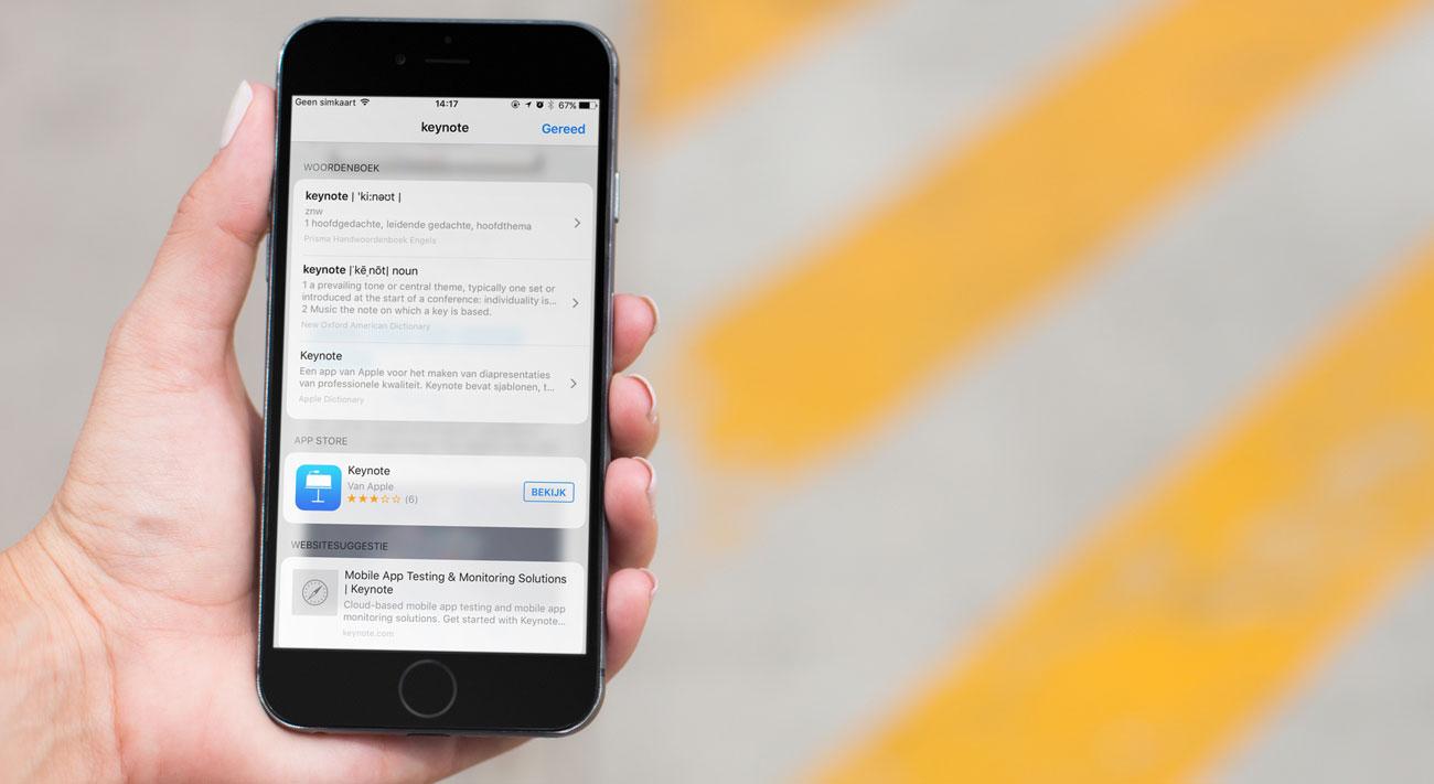 Woordenboek iOS 10