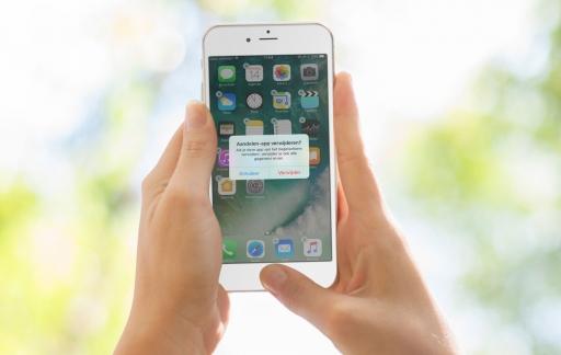 Apps verwijderen in iOS 10