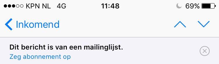Mailinglijst uitschrijven iOS 10