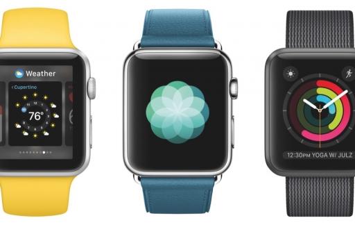 watchOS 3 met wijzerplaten voor de Apple Watch.