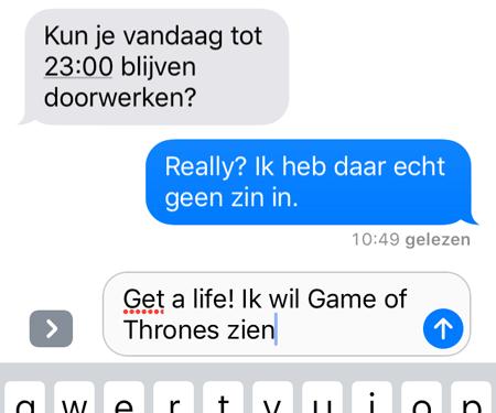 iMessage iOS 10 meerdere talen