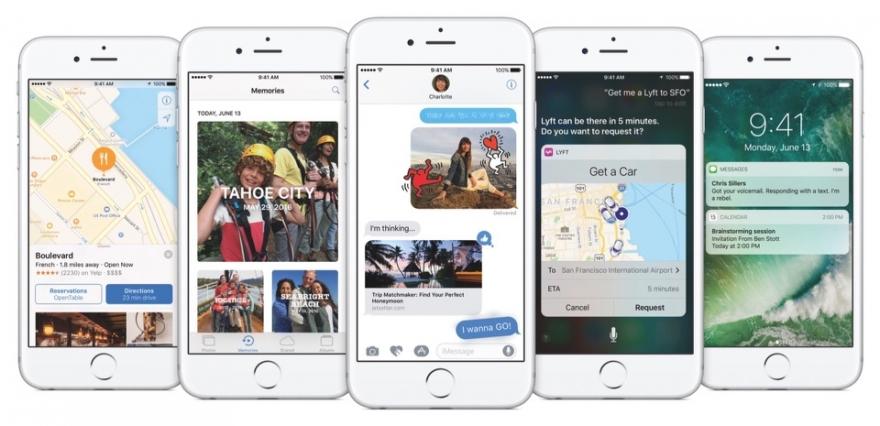 iOS 10 op de iPhone.