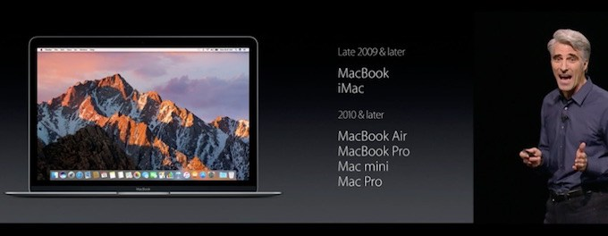 macOS Sierra geschikte Macs