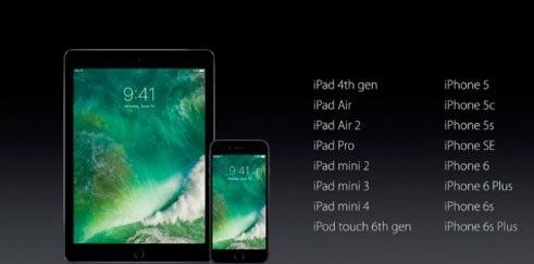 iOS 10-toestellen.
