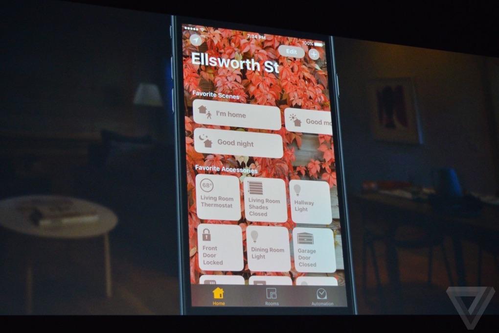 Home-app op de iPhone.