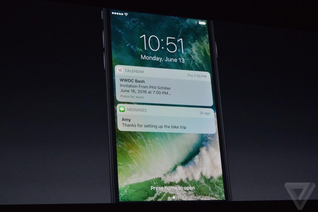 Het nieuwe beginscherm in iOS 10.